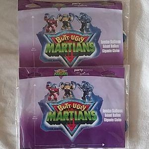 2 Butt Ugly Martians Jumbo Mylar/Metallic Balloons